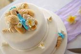 Inredda bröllopstårta — Stockfoto