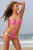Beautiful beach bikini girl — Stock Photo