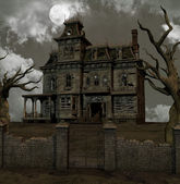 Spooky old Manor — Stock Photo