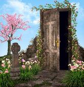 Enchanted Garden in spring — Stock Photo