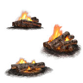 Collection of isolated fires — Stock Photo