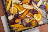 Oven baked vegetables — Stock Photo