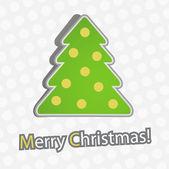 Merry Christmas And Fir Tree — Stock Vector