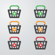 Buttons Cart - Stock Vector