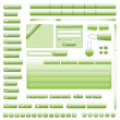 Interface Elements Web Site (Green) - Stock vektor