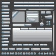 Interface Elements Web Site (Grey) - Stockvectorbeeld