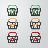 Buttons Cart — Stock Vector