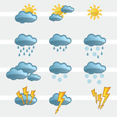 Weather Icons Signs — Stock Vector