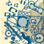 Постер, плакат: Grunge Musical Background