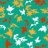Seamless pattern with leaf — Cтоковый вектор