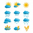Set vector weather icons — Stock Vector #33329109