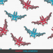 Seamless Halloween pattern — Image vectorielle