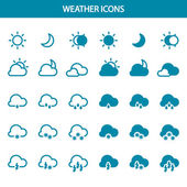 Set vector weather icons — Stock Vector