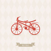 Retro Illustration Bicycle. — Stock Vector