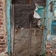 Old dilapidated ragged door — Stock Photo