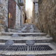 Stock Photo: ANCIENT STEPS OLD CITY JERUSALEM PALESTINE ISRAEL