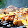 Royalty-Free Stock Photo: Shashlik - cooking barbecue