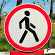 Royalty-Free Stock Photo: No pedestrians road sign
