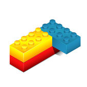 Toy blocks isolated on white — Wektor stockowy