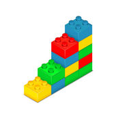 Toy blocks isolated on white — Vector de stock