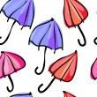 Seamless pattern colorful umbrellas — Stock Vector #27887325