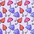 Seamless pattern colorful umbrellas — Stock Vector