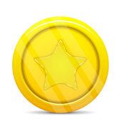 Moeda em ouro com estrela — Vetorial Stock