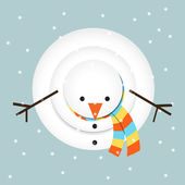 Snowman looking up — Stockvector