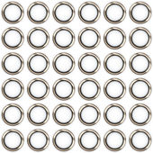 Metal rings on a white background — Stock Vector