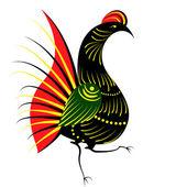 Pájaro en el estilo ruso — Vector de stock