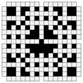 Black and white crossword — Stock Vector