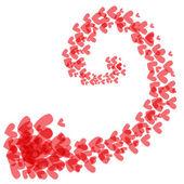 Swirl of hearts — 图库矢量图片