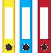 Office folders — Stock Vector