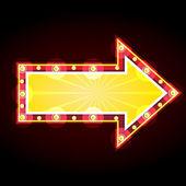 Neon znamení reklamní oznámení — Stock vektor