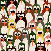 Bird wallpaper seamless pattern — Stock Vector