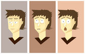 Set emotion character set — Stock Vector