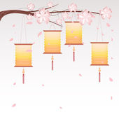 Chinese Lantern Background — 图库矢量图片