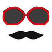 Seamless glasses and mustache — Vecteur