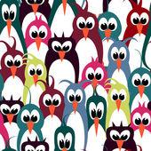 Bird wallpaper seamless pattern — Vector de stock