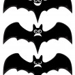 Stock Vector: Cartoon bats