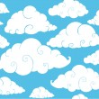 Cloud background — Stock Vector