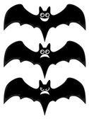 Murciélagos de la historieta — Vector de stock