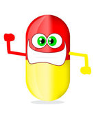 Pill cartoon — Stock Vector