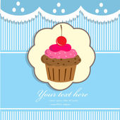 Cupcake background — Vector de stock