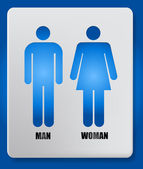 Vector Man and Woman icon — Stockvector