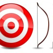Arrows and target - Stock Vector
