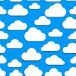 Seamless clouds background - Imagens vectoriais em stock
