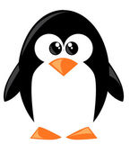 Cute cartoon penguine — Stock Vector