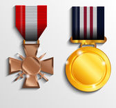 Military medal — Stock Vector