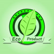 Ecological product — Vector de stock #25126963